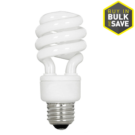Utilitech 6-Pack 13-Watt (60W) Spiral Medium Base Soft White (2700K) CFL Bulbs ENERGY STAR