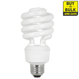 Utilitech 6-Pack 23-Watt (100W) Spiral Medium Base Soft White (2700K) CFL Bulbs ENERGY STAR