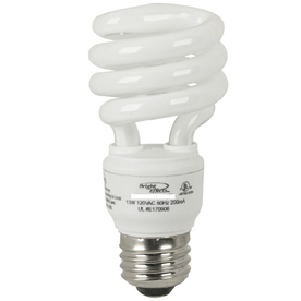 Bright Effects 13-Watt 6,500K Bright White CFL Bulb