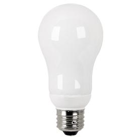 Utilitech 2-Pack 16-Watt (60W Equivalent) A19 Medium Base Bright White (3500K) CFL Bulbs