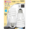 Utilitech 2-Pack 13-Watt (60W) Spiral Medium Base Soft White (2700K) CFL Bulbs ENERGY STAR