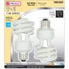 Utilitech 2-Pack 18-Watt (75W Equivalent) 2,700K Spiral Soft White CFL Bulb ENERGY STAR