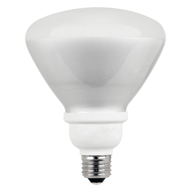 Utilitech 2-Pack 18-Watt (75W) BR40 Medium Base Soft White (2700K) CFL Bulbs ENERGY STAR