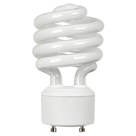 Utilitech 23-Watt (100W) Spiral Plug-in Base Soft White (2700K) CFL Bulb