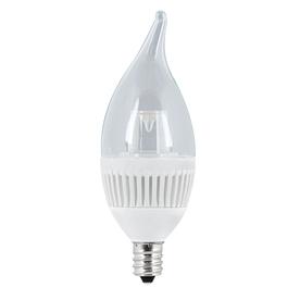 Utilitech 4.8-Watt (40 W Equivalent) Candelabra Base Warm White (3000K) Decorative LED Light Bulb