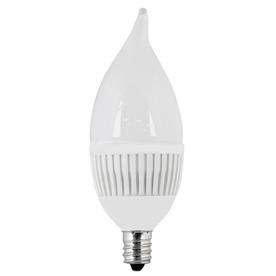 Utilitech 4.8-Watt (40W Equivalent) 3,000K Candelabra Base (E-12) Warm White Dimmable Decorative LED Light Bulb