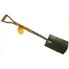 Flexrake Corp. Classic Wood Short-Handle Digging Shovel