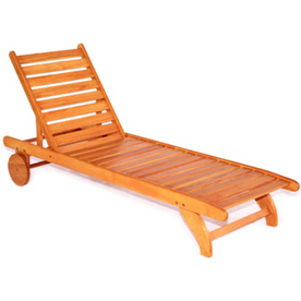Shop Wood Patio Chaise Lounge at Lowes.