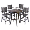 46-in Round Wood Patio Bar-Height Table