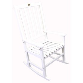 Shop white wood slat seat outdoor rocking chair at lowes com