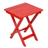 16-in x 16-in Red Wood Square Patio Side Table