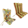 Jordan Manufacturing 38-in L x 21-in W Camilla/Martindale Stripe Chair Cushion