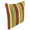 Jordan Manufacturing 16-in W x 16-in L Martindale Stripe Maple Square Indoor Decorative Complete Pillow