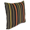 Jordan Manufacturing 16-in W x 16-in L Jolene Stripe Lava Square Indoor Decorative Complete Pillow