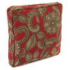 Jordan Manufacturing 14-in W x 14-in L Veranda Crimson Square Accent Pillow