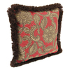 Jordan Manufacturing 16-in W x 16-in L Veranda Crimson Square Accent Pillow