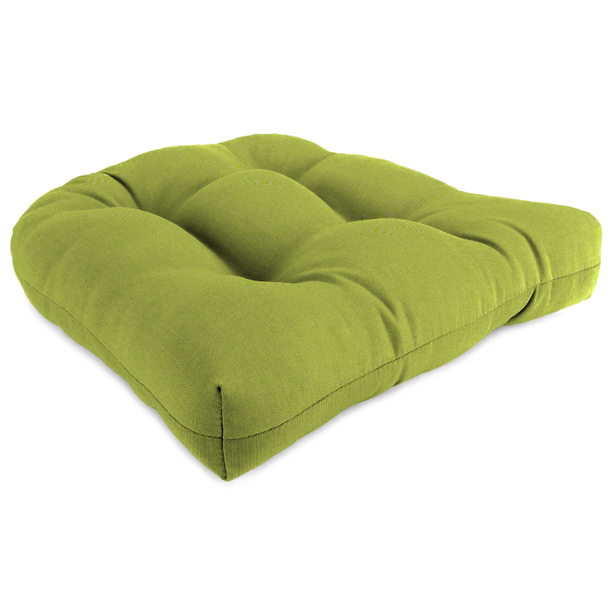 Shop sunbrella spectrum kiwi patio chair cushion at lowescom for Sunbrella patio furniture cushions