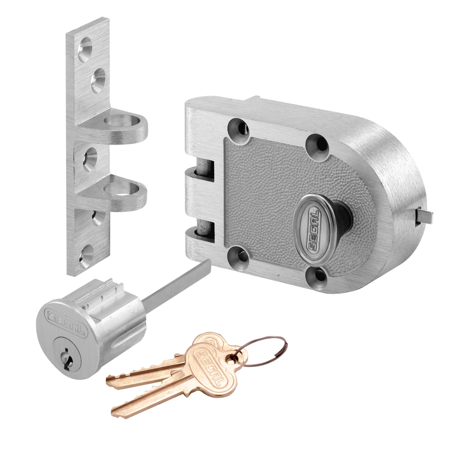 Shop Prime Line Segal Chrome Single Cylinder Deadbolt At