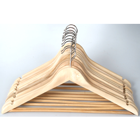 Style Selections 10-Pack Wood Hangers