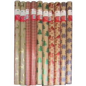 Creative Presence Assorted 2.5-ft x 6-ft Christmas Wrapping Paper IG76266
