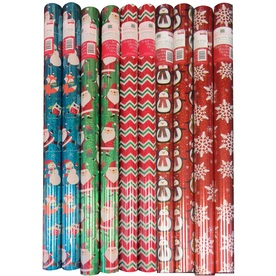 Creative Presence Assorted 2.5-ft x 6-ft Christmas Wrapping Paper IG76267