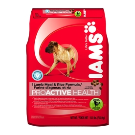 Iams 15.5 lbs ProActive Health Lamb Meal & Rice All-Natural Adult Dog Food