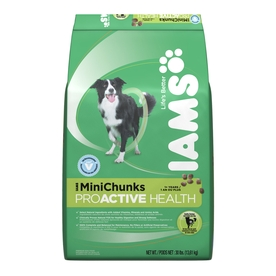 Iams 30 Lbs. ProActive Health MiniChunks All-Natural Adult Dog Food 19014111909
