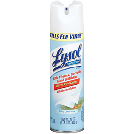 LYSOL 19-oz Crisp Linen Disinfectant Spray