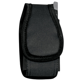 AWP Black Polyester Hook-N-Loop Cell Phone Case