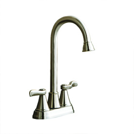 AquaSource Brushed Nickel 2-Handle Bar Faucet