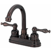 Danze Sheridan Oil-Rubbed Bronze 2-Handle 4-in Centerset WaterSense Bathroom Sink Faucet (Drain Included)