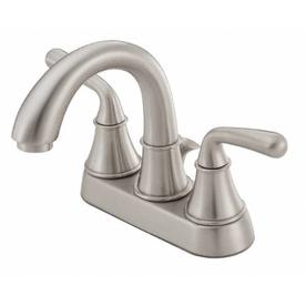 Danze Bannockburn Brushed Nickel 2-Handle 4-in Centerset WaterSense Bathroom Sink Faucet (Drain Included)
