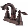 Danze Fairmont Oil-Rubbed Bronze 2-Handle 4-in Centerset WaterSense Bathroom Faucet (Drain Included)