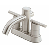 Danze Parma Brushed Nickel 2-Handle 4-in Centerset WaterSense Bathroom Sink Faucet (Drain Included)