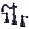 Danze Opulence Satin Black 2-Handle 4-in Mini Widespread WaterSense Bathroom Faucet (Drain Included)
