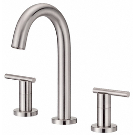 Danze Parma Brushed Nickel 2-Handle Widespread WaterSense Bathroom Sink Faucet (Drain Included)