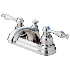 Danze Sheridan Brushed Nickel 2-Handle 4-in Centerset WaterSense Bathroom Sink Faucet (Drain Included)