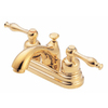 Danze Sheridan Polished Brass 2-Handle 4-in Centerset WaterSense Bathroom Sink Faucet (Drain Included)
