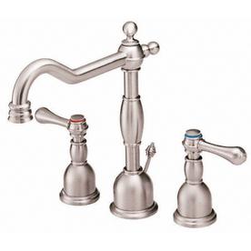 Danze Opulence Brushed Nickel 2-Handle Widespread WaterSense Bathroom Faucet (Drain Included)