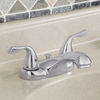 AquaSource Chrome 2-Handle 4-in Centerset WaterSense Bathroom Faucet (Drain Included)