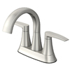 Jacuzzi Lyndsay Brushed Nickel 2-Handle 4-in Centerset WaterSense Bathroom Faucet (Drain Included)