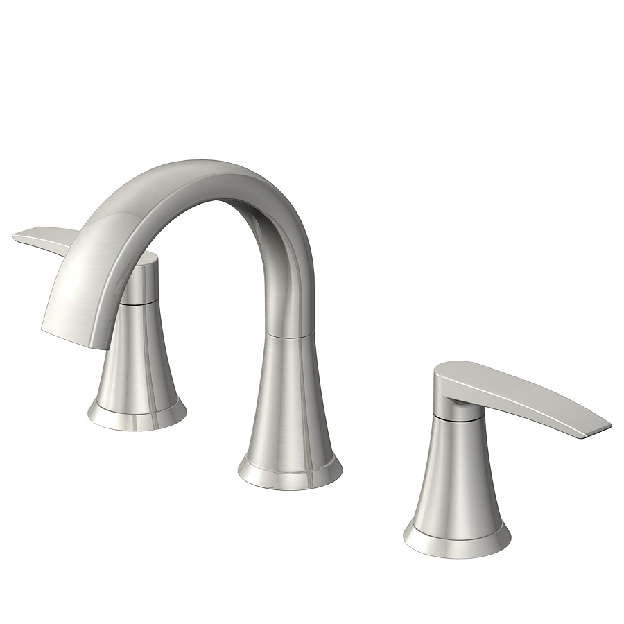 Shop Jacuzzi Lyndsay Brushed Nickel 2 Handle Widespread Watersense Bathroom Sink Faucet Drain