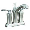 AquaSource Kershaw Chrome and Brushed Nickel 2-Handle 4-in Centerset WaterSense Bathroom Faucet (Drain Included)