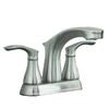 AquaSource Garner Brushed Nickel 2-Handle 4-in Centerset WaterSense Bathroom Faucet (Drain Included)