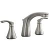 AquaSource Garner Brushed Nickel 2-Handle Widespread WaterSense Bathroom Faucet (Drain Included)