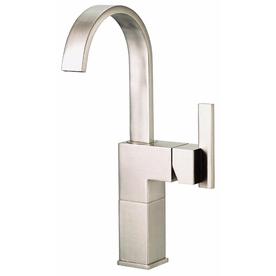 Danze Sirius Brushed Nickel 1-Handle Single Hole WaterSense Bathroom Faucet (Drain Included)