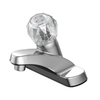 Project Source Chrome 1-Handle 4-in Centerset WaterSense Bathroom Sink Faucet (Drain Included)