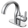 Jacuzzi Belice Chrome 1-Handle Single Hole WaterSense Bathroom Faucet (Drain Included)
