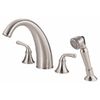 Danze Bannockburn Brushed Nickel 2-Handle Adjustable Deck Mount Tub Faucet