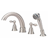Danze Fairmont Brushed Nickel 2-Handle Adjustable Deck Mount Tub Faucet